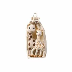 Set Girafa Sophie din cauciuc natural si girafa din plus