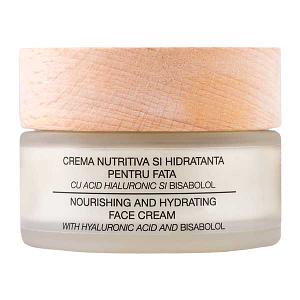 Crema cu acid hialuronic, niamicida, bisabolol Nuca Organic