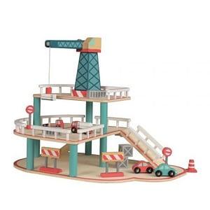 Garaj cu macara si vehicule Egmont Toys