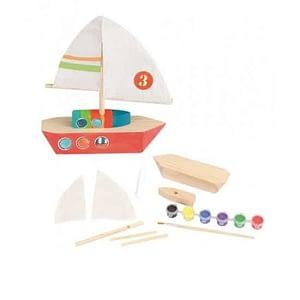 Set de confectionat barca din lemn Egmont Toys