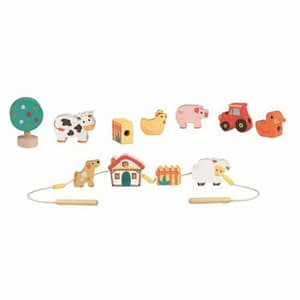 Set de insirat animale din lemn Egmont Toys