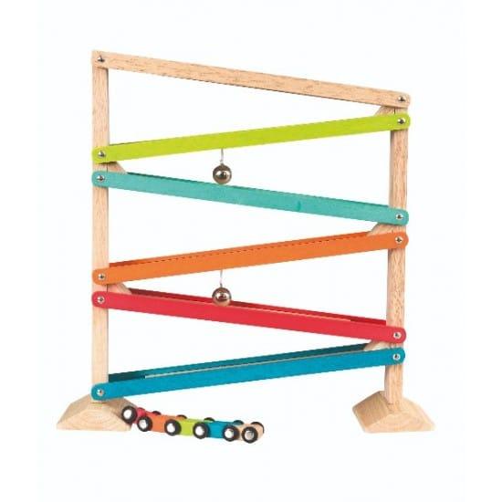 Jucarie din lemn cu panta si masinute Egmont Toys
