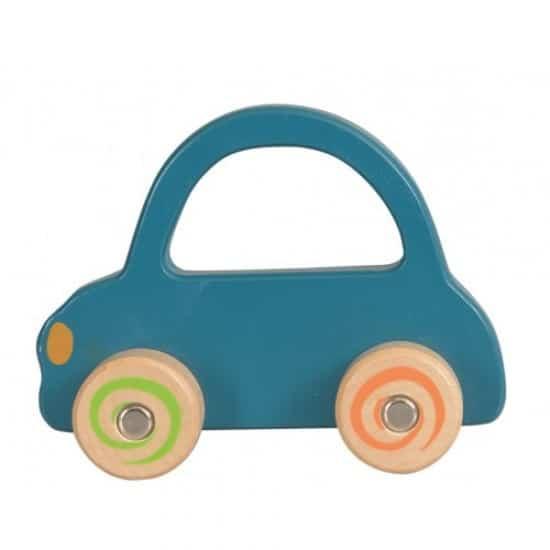 Masina din lemn albastra Egmont Toys