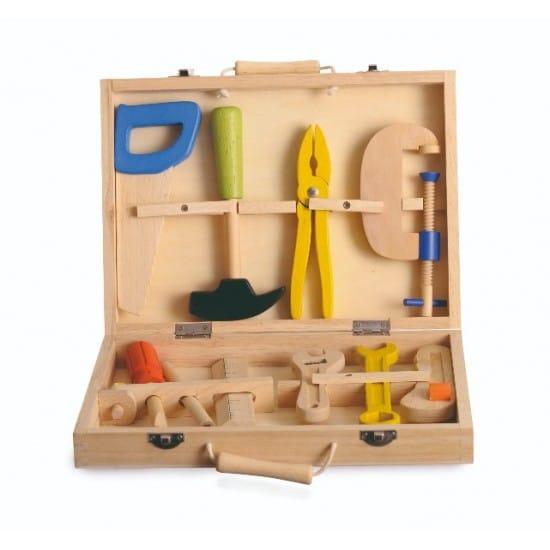 Set de unelte de lemn in geanta Egmont Toys