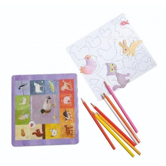 Set desen piese magnetice animale Egmont Toys