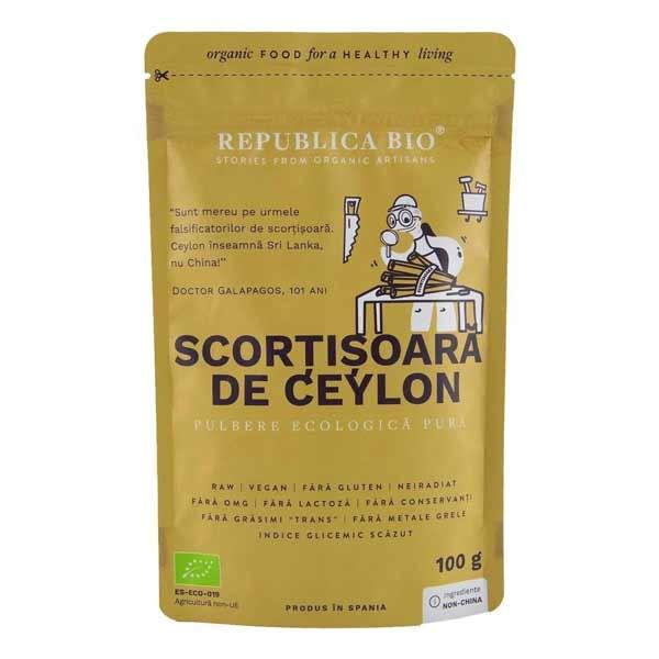Scortisoara Ceylon Republica Bio