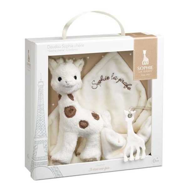 Set cadou Girafa Sophie Cherie si batistuta comforter Vulli