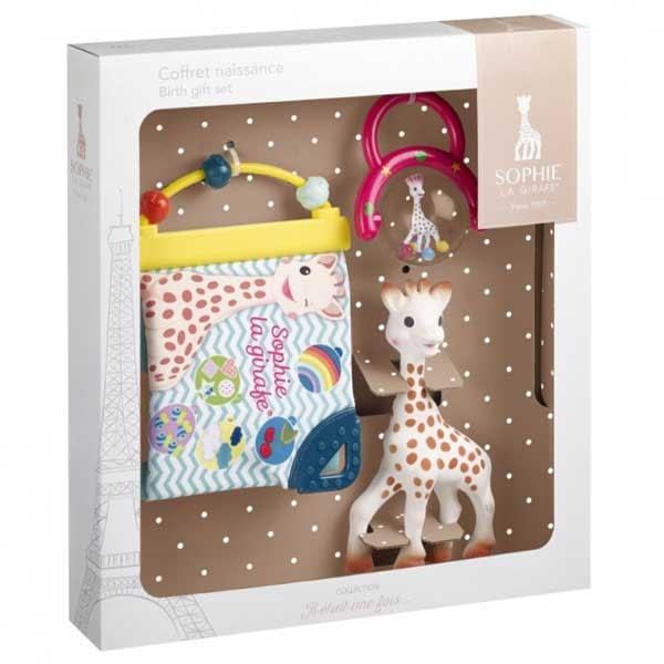 Vulli Set Cadou Girafa Sophie, zornaitoare si carticica cu activitati 0+ luni