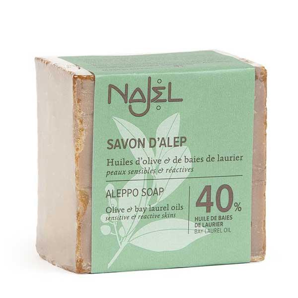 Sapun de Alep traditional cu 40% ulei de dafin Najel