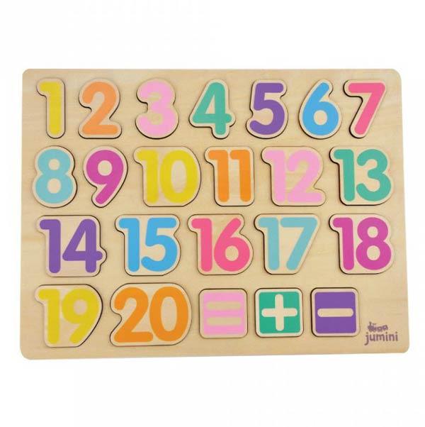 Puzzle din lemn numere adunare si scadere